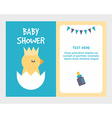 Baby shower invitation card template with cute vector image vector image