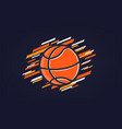 basketball abstract sports banner vector image