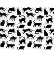 black cats seamless vector image vector image