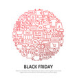 black friday circle concept vector image vector image