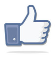 blue thumb up vector image vector image