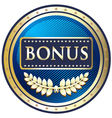 Bonus Blue Label vector image