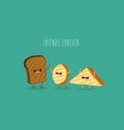 bread and toast vector image vector image