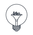 bulb drawing isolated icon design vector image vector image