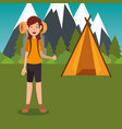 camping wild life concept vector image