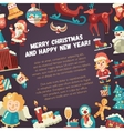 Christmas and Happy New Year flat vector image vector image