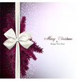 Christmas background with fir branches and baw vector image vector image
