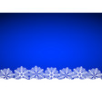 christmas blue background with snowflakes vector image