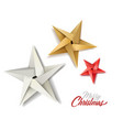 christmas holiday decoration stars vector image