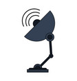 color image satellite antenna communication vector image vector image