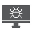 computer virus glyph icon technology and device vector image vector image