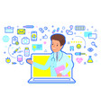 concept online medical consultation doctor vector image
