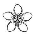 cosmetic flower icon simple style vector image