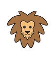 cute lion cartoon logo design vector image