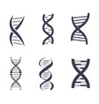 dna silhouettes set poster vector image
