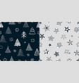 fir tree stars pattern christmas new year vector image vector image