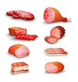 Fresh Meat Set vector image vector image