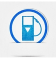 gas pump icon is blue on a white background in vector image vector image