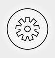 gear building kit toy icon line vector image vector image