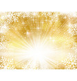 golden sparkling christmas background with vector image vector image