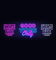 good vibes only neon text design template vector image vector image