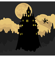 Halloween holiday graphic template Flat icons vector image vector image