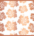 hibiscus flower rose gold copper foil pattern tile vector image vector image