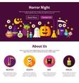 Horror Night Web Design Template vector image