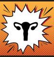 human anatomy uterus sign comics style vector image