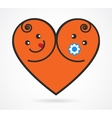 image of smiling baby boy and girl vector image vector image