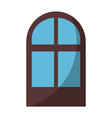 isolated window cartoon vector image vector image