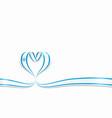 israeli flag heart-shaped ribbon vector image