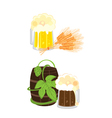 kinds of beer vector image vector image