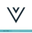 letter v icon logo template design eps 10 vector image vector image