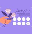 loyalty card for client shop elegant design vector image vector image