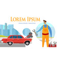 man mechanic with instruments in hand maintenance vector image vector image