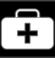 medical case the white color icon vector image vector image