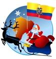 Merry Christmas Ecuador vector image vector image
