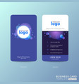 modern blue business card design with abstract vector image vector image