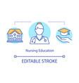 nursing education concept icon vector image vector image