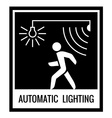 One color warning sign Automatic light control vector image vector image