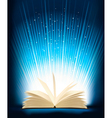 Opened magic book with magic light vector | Price: 1 Credit (USD $1)