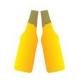 pair of beer bottles vector image vector image