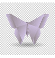 pink origami butterfly on transparent background vector image vector image