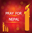 PRAY NEPAL vector image vector image