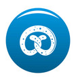 pretzel icon blue vector image vector image