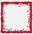 red paper heart frame background heart frame vector image vector image