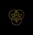 sacred geometry triangle logo overlapping circles