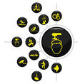 SAFETY SECURITY BUTTON SET vector image
