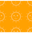 Seamless pattern of sun vector image vector image